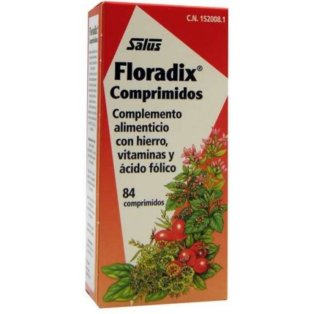 FLORADIX HIERRO NATURAL 84 COMP. SALUS