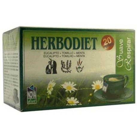 erbodiet Suave Respirar Nova Diet 20 filtros herbolariomalvarosa.com