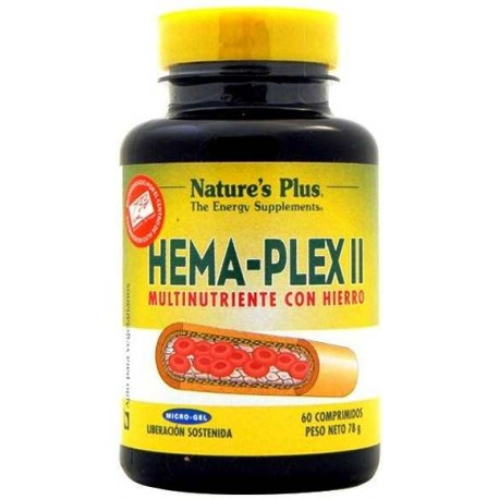 HEMAPLEX II NATURE'S PLUS 60 COMP.