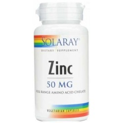 ZINC 50MG 60 CAPSULAS SOLARAY