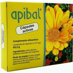 APIBAL POLEN ABIERTO ACTIVO 60 CAPSULAS